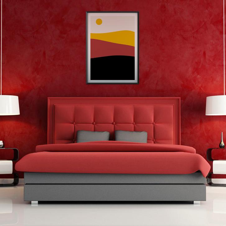 Mise en situation Poster minimaliste paysage tons chauds