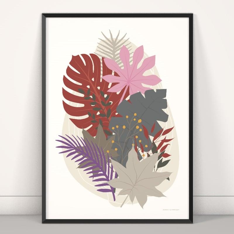 Composition florale tropicale minimaliste