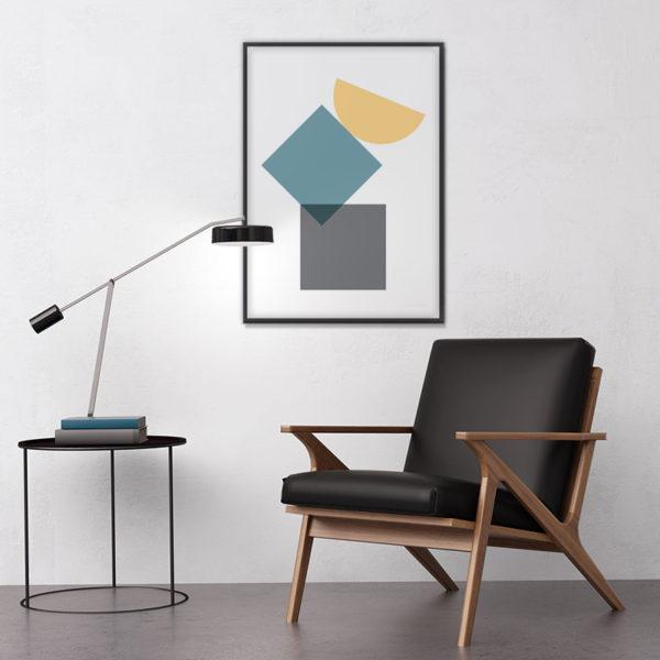 Affiche déco géométrique minimalistes simple