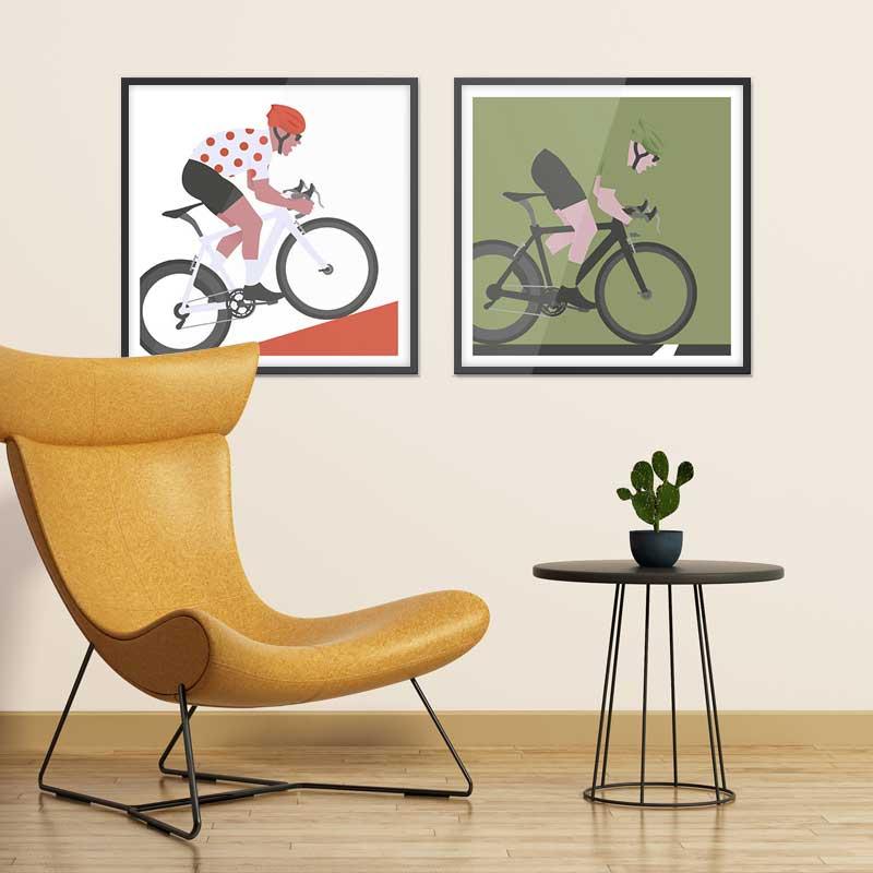 Affiches minimalistes déco cyclisme tour de france