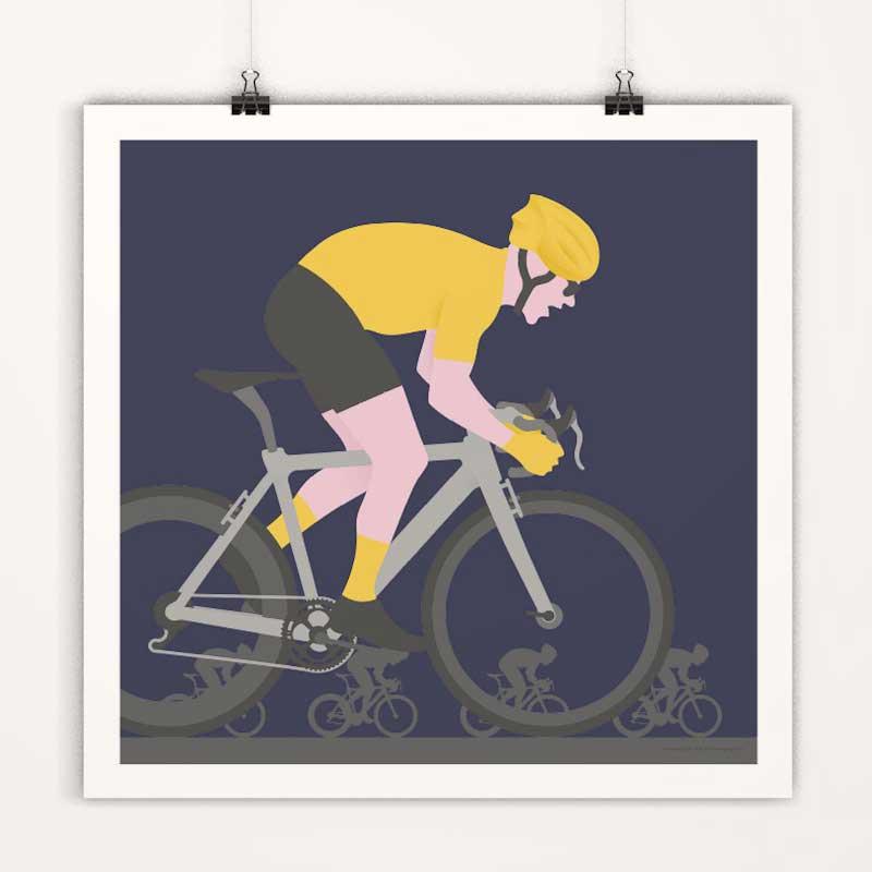 Affiches minimalistes déco cyclisme tour de france - maillot jaune