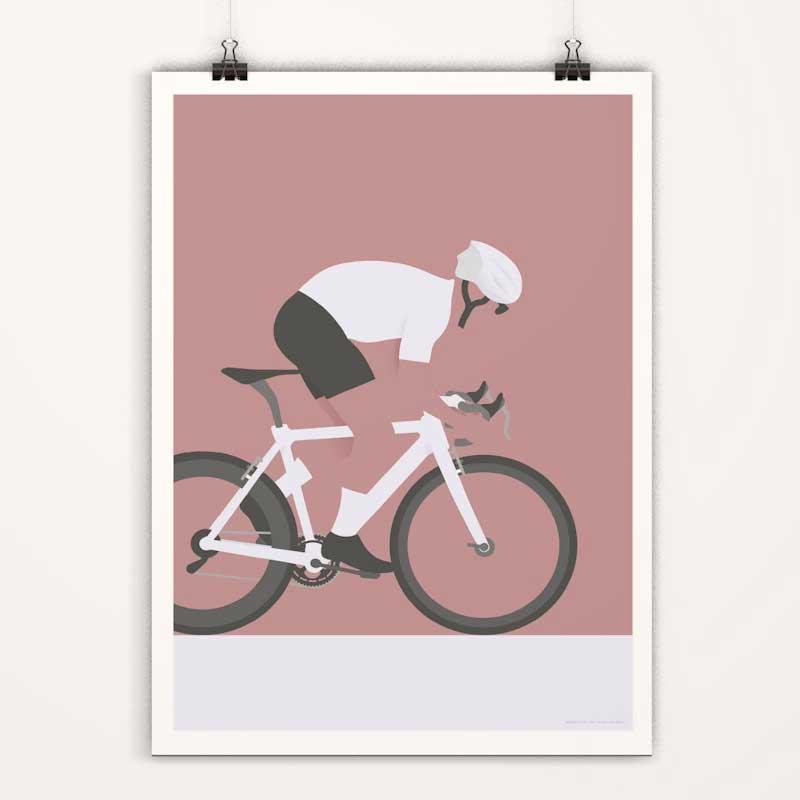 Affiches minimalistes déco cyclisme tour de france - maillot blanc