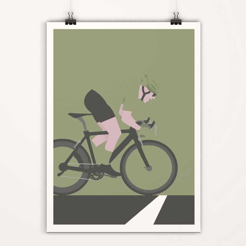 Affiches minimalistes déco cyclisme tour de france - maillot vert